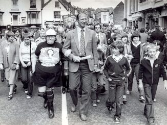 Jack Charlton at the Durham Miners Gala