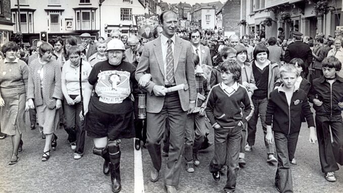 Jack Charlton at the Durham Miners Gala